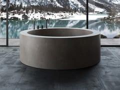 Vasca da bagno centro stanza rotonda in Corian®UNICO ROTONDA MAXI | Vasca da bagno centro stanza - REXA DESIGN
