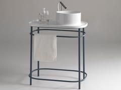 Lavabo a consolle rotondo in ceramica con pianoUP 700 | Lavabo a consolle - BLEU PROVENCE