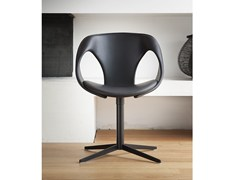 Sedia in pelle a 4 razze UP CHAIR | Sedia con cuscino integrato - Up