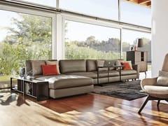 Divano modulare in pelle con chaise longue URBAN | Divano con chaise longue -