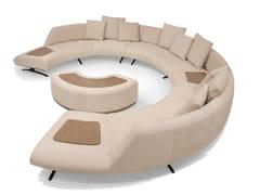 Divano angolare componibile imbottito in pelle V114 COMPOSITION 3 | Divano componibile -