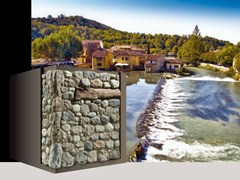 Rivestimento di facciata in pietra artificiale VALEGGIO P85 - Profilo SPONTANEO