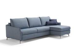 Divano letto in tessuto a 3 posti con chaise longueVALENTINA | Divano letto con chaise longue - DIENNE SALOTTI