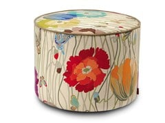 Pouf cilindro in velluto Trevira Cs VANCOUVER | Pouf rotondo - Poppies Day
