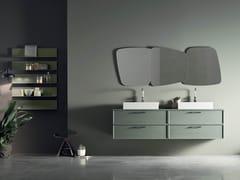 Mobile lavabo sospeso in legno con cassettiVANITY - COMPOSIZIONE 03 - ARCOM