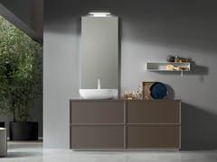 Mobile lavabo sospeso in legno con cassettiVANITY - COMPOSIZIONE 13 - ARCOM