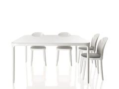 Tavolo quadrato in alluminio e vetroVANITY TABLE | Tavolo - MAGIS