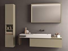 Mobile lavabo singolo in nobilitato con porta asciugamani SEGNO | Mobile lavabo con porta asciugamani - Segno