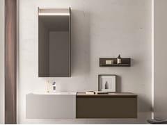 Mobile lavabo sospeso in nobilitato con cassetti SEGNO | Mobile lavabo sospeso - Segno