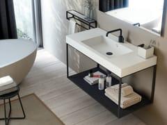 Mobile lavabo sospeso rettangolareTHE GRID EVO | Mobile lavabo - COSMIC