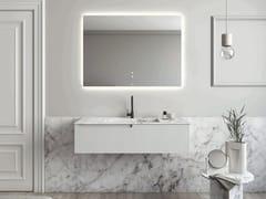Mobile lavabo singolo sospeso in marmo di CarraraPURE | Mobile lavabo - FIORA