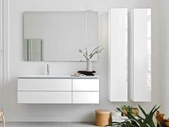 Mobile lavabo sospeso in cristallo con cassettiMONOLITE 18 | Mobile lavabo con cassetti - ARTELINEA