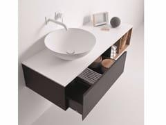 Mobile lavabo laccato sospeso con cassetti QUATTRO.ZERO | Mobile lavabo con cassetti - Quattro.Zero
