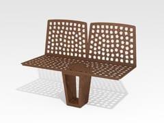 Panchina modulare in acciaio Corten™VARESÈ | Panchina modulare - TRACKDESIGN