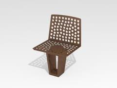 Seduta da esterni in acciaio Corten™VARESÈ | Seduta da esterni - TRACKDESIGN