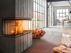 Inserto per camini a legna con vetro panoramico VARIA AS-3RLH -