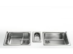 Lavello a una vasca in acciaio inox in stile moderno con cassettoRAGGIO 60 | Lavello da incasso - ALPES-INOX