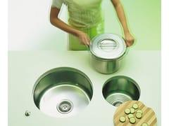 Lavello a una vasca sottotop in acciaio inox con gocciolatoioLavello sottotop - ALPES-INOX