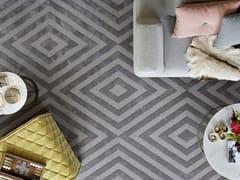 Tappeto in lana a motivi geometrici VELVET STELLA -