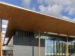 HunterDouglas Architectural, LEGNO IMPIALLACCIATO PER ESTERNI Controsoffitti in legno impiallacciato per esterni