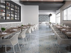 Indoor flooring & Wall tiles with encaustic effect