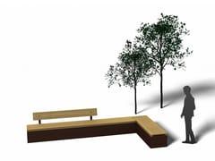 Panchina in legno con schienaleVENEZIA - EUROFORM K. WINKLER