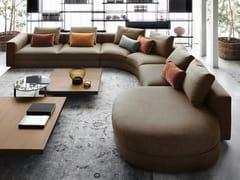 Divano angolare componibile in tessuto con chaise longueVENISE | Divano in tessuto - LEMA