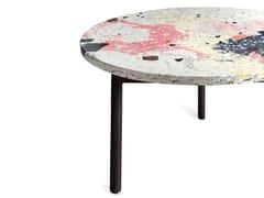 Tavolino rotondo in terrazzo veneziano e acciaioVENUS | Tavolino - FOR ME LAB