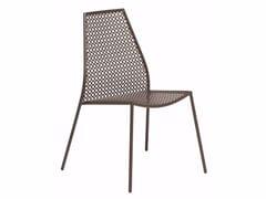 Sedia da giardino impilabile in acciaio VERA | Sedia - Vera