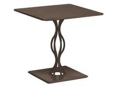 Tavolo da giardino quadrato in acciaio VERA | Tavolo quadrato - Vera