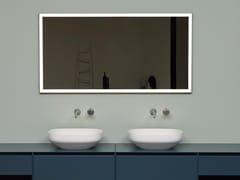 Antonio Lupi Design, VERTICE Specchio da parete con illuminazione integrata per bagno