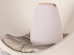 Lampada da tavolo a LED in plastica con sistema RGBVESSEL | Lampada da tavolo senza fili - SMART AND GREEN
