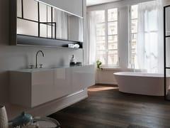 Mobile lavabo sospeso in legno con cassetti VIA VENETO | Mobile lavabo laccato - Via Veneto
