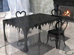 Tavolo da pranzo rettangolare in vetro temperato VIAGGIO III - Le Mille e Una Notte