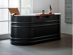 Vasca da bagno centro stanza ovale in acciaioVIEQUES XS - AGAPE