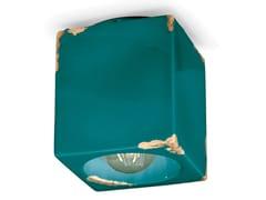 Faretto quadrato in ceramica a soffittoVINTAGE | Faretto quadrato - FERROLUCE