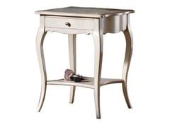 Tavolino alto quadrato in legno con vano contenitoreVIOLETTE - FABER MOBILI