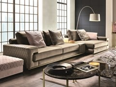 Divano componibile in velluto con chaise longueVISCONTI PLUS | Divano con chaise longue - FORMER IN ITALIA