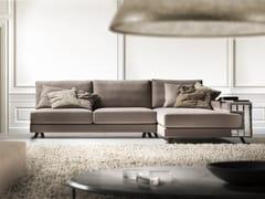 Divano componibile in Dacron® con chaise longueVISCONTI | Divano con chaise longue - FORMER IN ITALIA