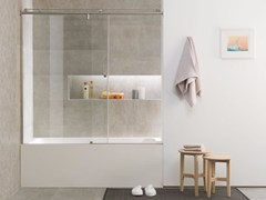 Parete per vasca in vetro VITRA 9B - SYSTEMPOOL KRION® PORCELANOSA SOLID SURFACE