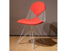 Sedia in acciaio con cuscino integratoVITRA - WIRE CHAIR DKR 2 WHITE - ARCHIPRODUCTS.COM