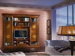 Libreria in legno massello con porta tv VIVRE LUX | Libreria con porta tv - Vivre Lux
