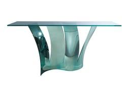 Consolle rettangolare in acciaio e vetroVOILES | Consolle - ROCHE BOBOIS