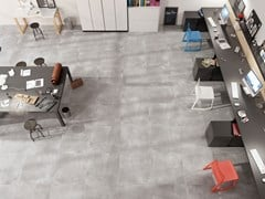 Pavimento/rivestimento in gres porcellanato effetto cementoVOLCANO GREY - CERAMICA RONDINE