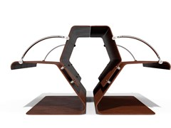 Metalco, VOLO EVOLUTION Panchina in acciaio Corten™ con schienale