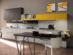 Cucina componibile laccata lineare VOLUMIA | Cucina -