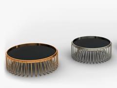 Tavolino da caffè rotondo in metallo VORTEX | Tavolino da caffè -
