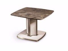 Tavolino alto quadrato in marmo VOYAGE | Tavolino quadrato - Voyage