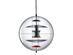 Lampada a sospensione in acrilicoVP GLOBE COLOURED GLASS - VERPAN