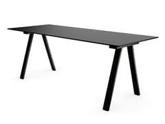 Tavolo rettangolare in HPL e struttura in acciaio verniciatoVU B/R 1600 - CERANTOLA